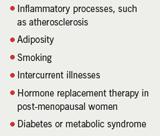Table 1. Factors raising high-sensitivity C-reactive protein