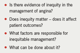 Table 1: Questions on inequity of treatment in angina