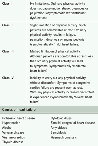 Table 1. The New York Heart Association (NYHA) classification of heart failure symptoms