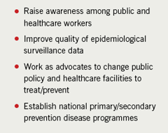 Table 1. Common action plan for rheumatic fever/rheumatic heart disease eradication in Africa