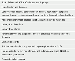 Table 1. Who is at increased risk of CKD