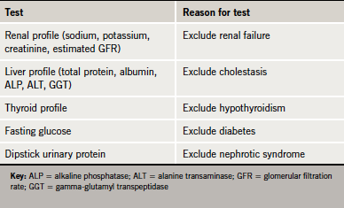 Table 1. Key tests to exclude secondary causes of dyslipidaemia