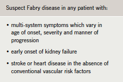 Table 2. When to suspect Fabry disease