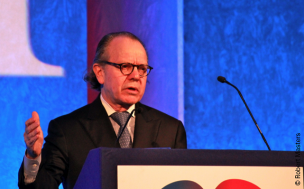 Figure 1. Professor Marc Pfeffer lectures on cardiac remodelling