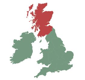 UK map - scotland