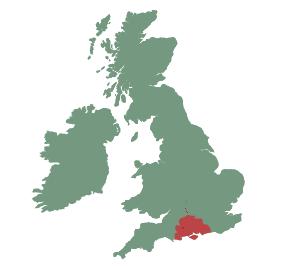 UK map - south