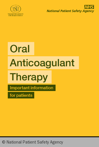 Figure 2. The yellow Oral Anticoagulant Therapy (OAT) booklet