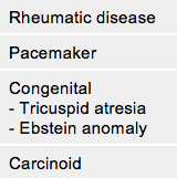 Table 8. Causes of tricuspid stenosis