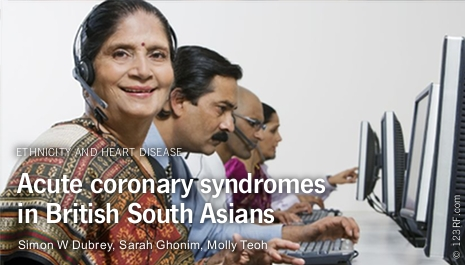 Acute coronary syndromes among South Asian subgroups in the UK: symptoms and epidemiology