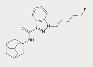 Figure 1. Synthetic cannabinoid 5F-AKB48 (N- ((3s, 5s, 7s)- adamantan- 1- yl)- 1- (5- fluoropentyl)- 1H- indazole- 3- carboxamide)