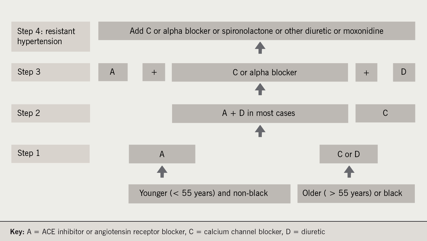 Figure 1. Recommendations for combining blood pressure drugs – A/CD rule
