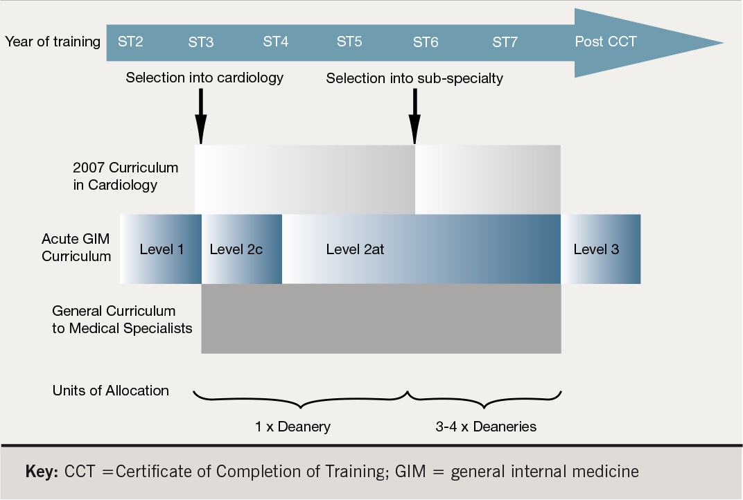 Figure 1. Schematic representation of the 2007 Curriculum for Cardiology