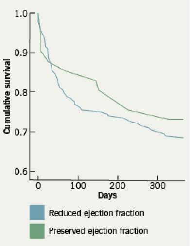 Figure 1. Kaplan-Meier curve for time to all-cause mortality