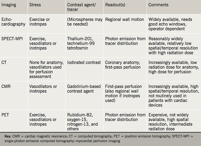 Lewis Table 1. Overview of currently available functional imaging tests