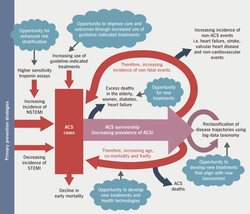 Figure 6. Drivers and opportunities in the present and future acute coronary syndrome landscape